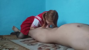 Japanese schoolgirl loves to do blowjob after school